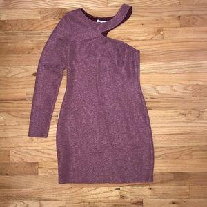 Mauve BCBG One Shoulder Body-con Dress